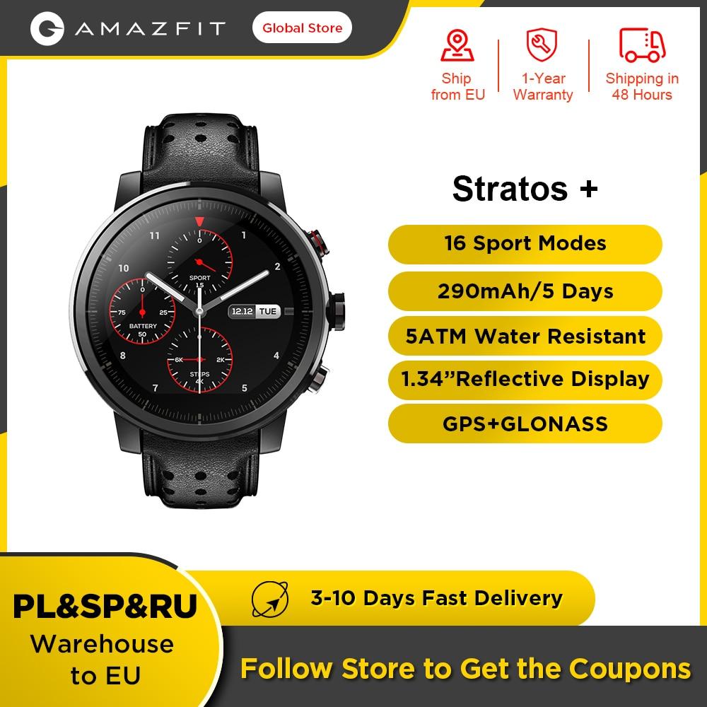 100% الأصلي Amazfit ستراتوس + الرائد الذكية ساعة جلد أصلي حزام الياقوت الزجاج Flourorubber حزام للهاتف أندرويد