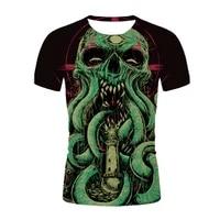 2021 man t shirt horror skull print graphic t shirts 3d gothic clothes humorous streetwear t shirt for men summer short sleeve