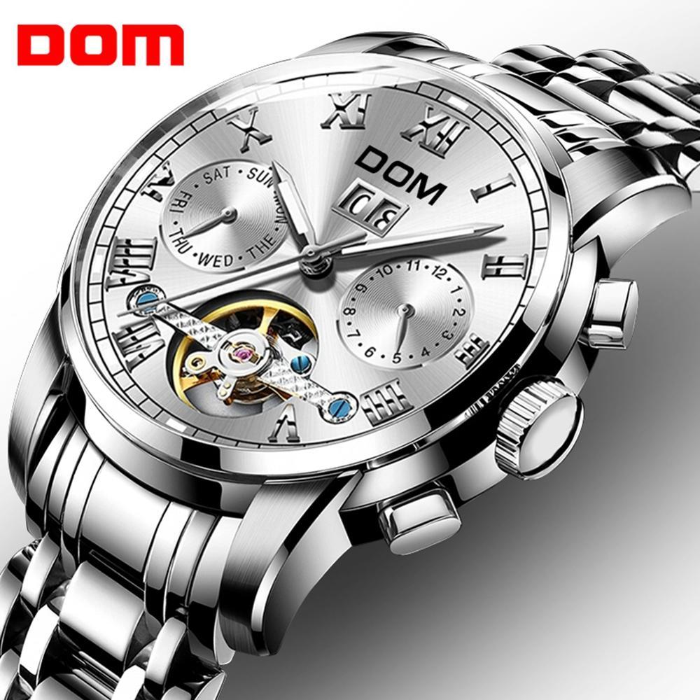 Masculino à Prova Marca de Luxo Relógio de Pulso Relógios Mecânicos Esporte Relógio Dwaterproof Água Masculino Moda M-75d-7m Dom