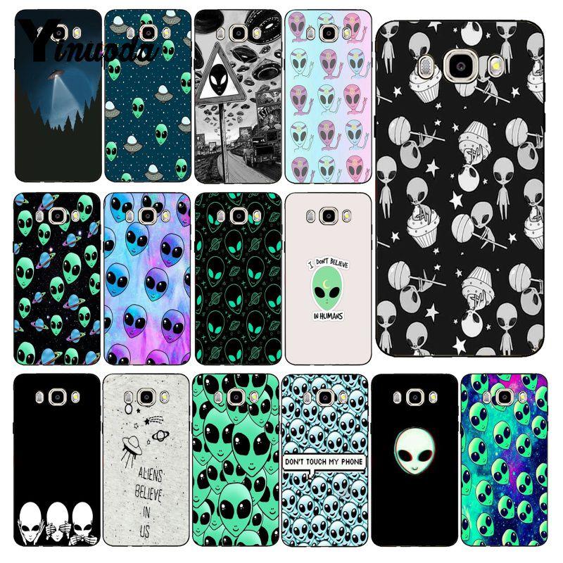 Yinuoda alienígena creer UFO ET lindo caso de teléfono para Samsung Galaxy J7 J6 J8 J4 J4Plus J7 DUO J7NEO J2 J5 primer