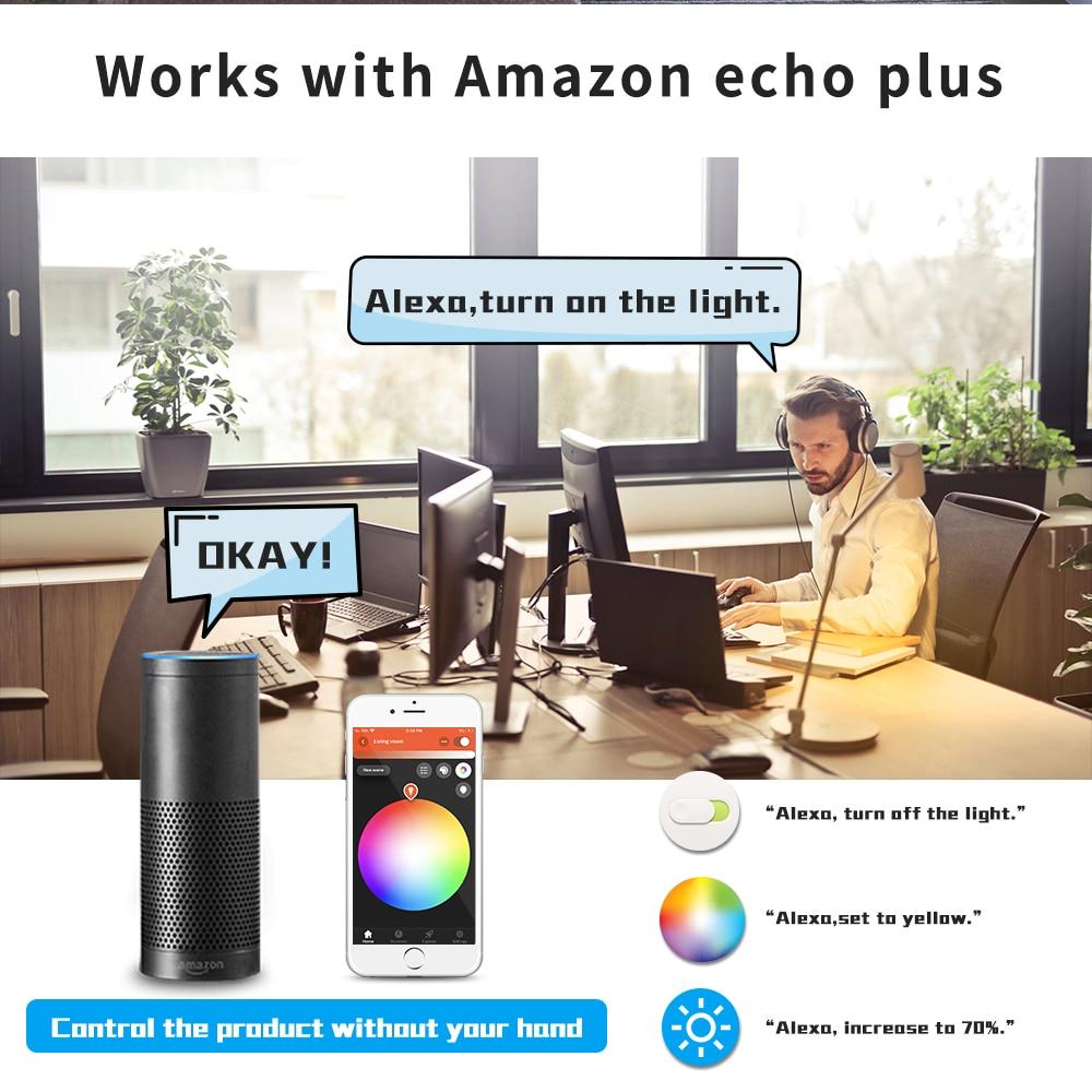 Gledopto Zigbee Smart Home 4PCS RGBCCT LED Spotlight 4W MR16 Work With Tuya SmartThings App Alexa Echo Plus Voice Control enlarge
