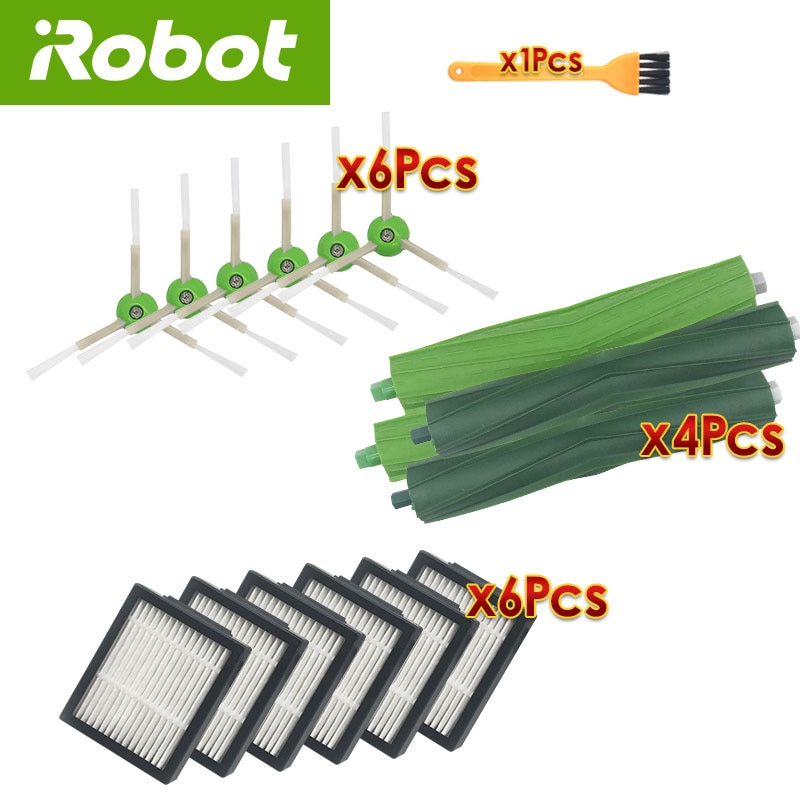 For iRobot Roomba i7 plus E5 E6 replacement accessories robot vacuum cleaner Hepa Filter Brush Roll sweeping spare parts