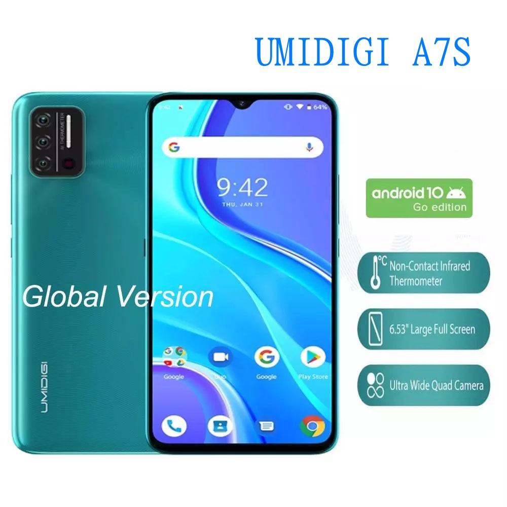 Перейти на Алиэкспресс и купить UMIDIGI A7S глобальная версия смартфона 2 ГБ 32 ГБ 4150 мАч Тройная камера мобильного телефона 6,53 дюймэкран инфракрасный датчик температуры мобильного ...