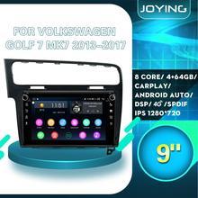 "9 ""Android Auto Radio Auto Stereo Gps Head Unit Voor Vw Golf Vii 7 MK7 2017-2013 Gps multimedia Speler OBD2 Donkergrijs/Zilver Kleur"