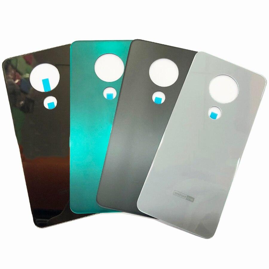 100% Original nueva cubierta trasera de la batería cubierta de cristal de la puerta de la carcasa trasera para Nokia 6,2/7,2 funda trasera de la cubierta de la batería
