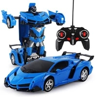 rc car transformation robots sports vehicle model robots toys cool deformation remote control car kids toys for boys gifts