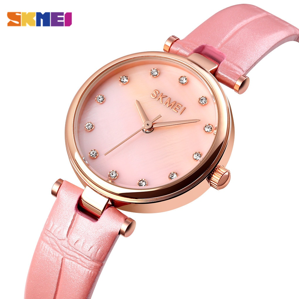 Fashion 4 Colors SKMEI 1777 Top Brand Relogio Feminino Casual Women's Watches Waterproof Female Ladies Wristwatch Girl Clock
