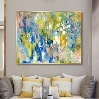 100 hand painted impression scenery oil painting on canvas wall art frameless picture decoration for live room home decor gift