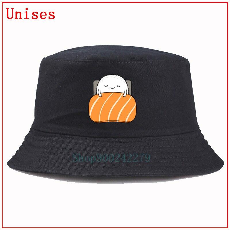 Sombrero de pescador Sleepy sushi, sombrero de hip hop, sombrero Panamá para el sol, sombrero de pesca para hombre y niño, sombrero de fondo, sombrero de cubo de diseño para mujer