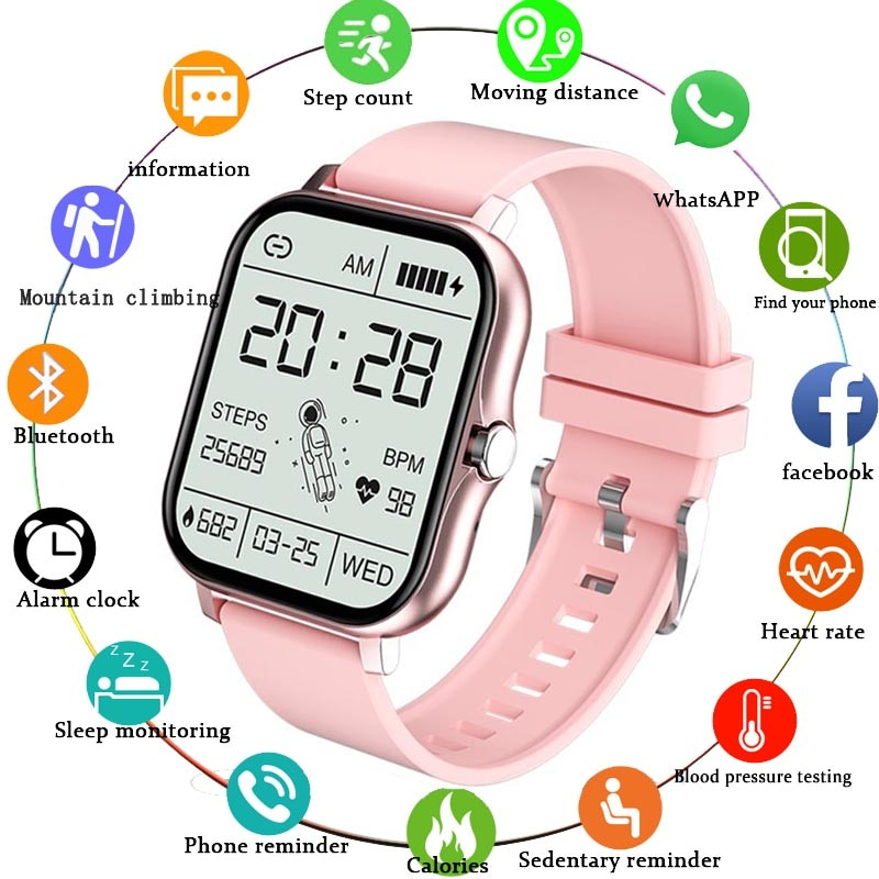 LIGE Smart Watch Women Bluetooth Call Music Control Fitness Tracking Heart Rate Custom Dial Sports W