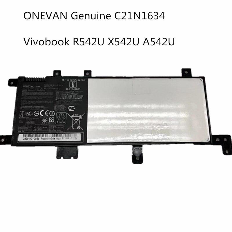 Новый аккумулятор для ноутбука C21N1634 для Asus Vivobook R542UR R542UR-GQ378T FL5900L ноутбук A580UR FL8000U серии 7,6 V 38WhX580U X580B