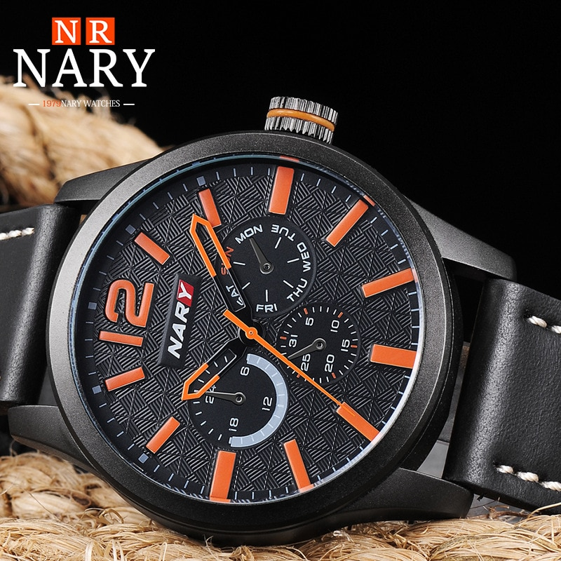 Military Model Men Watches Business Watch Waterproof Men's Quartz Leather Wristwatch Hands Clock Mal