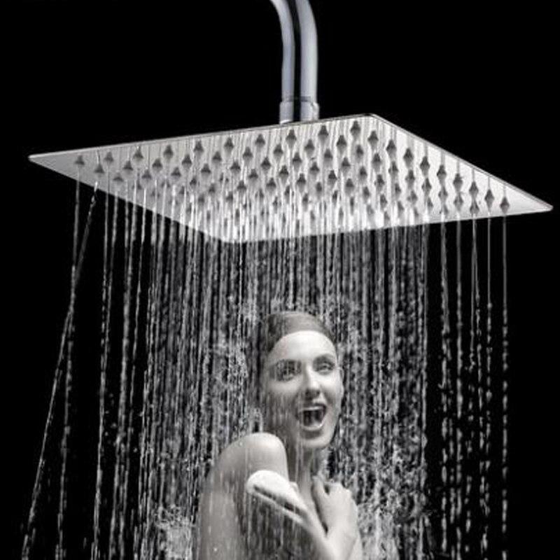 Светильник класса люкс 4/6/8 дюймовый настенный Нержавеющаясталь насадка для душа с эффектом комплект Ванная комната Насадки для душа верхний душ опрыскиватель комплект аксессуары для ванной комнаты