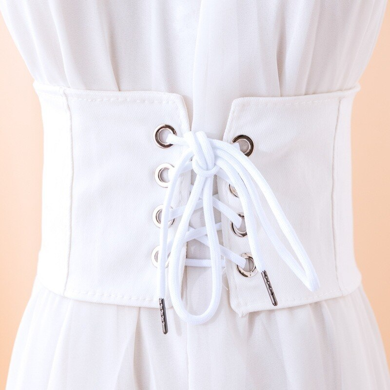 Vintage Corset Belt For Women Elastic Girdle Dress Decoration Cummerbunds Ladies Slimming High Waist