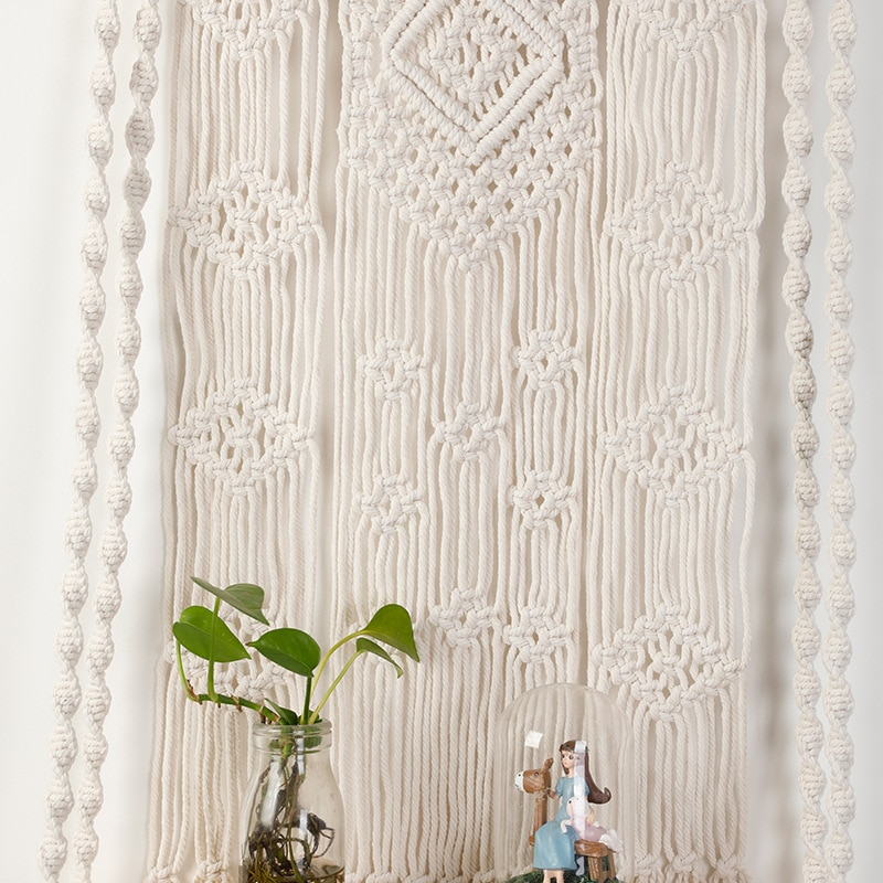 Bohemian Tassel Tapestries Living Room Decor Macrame Wall Hanging Sofa Headboard Decoration Mandala Boho Tapestry Decoration