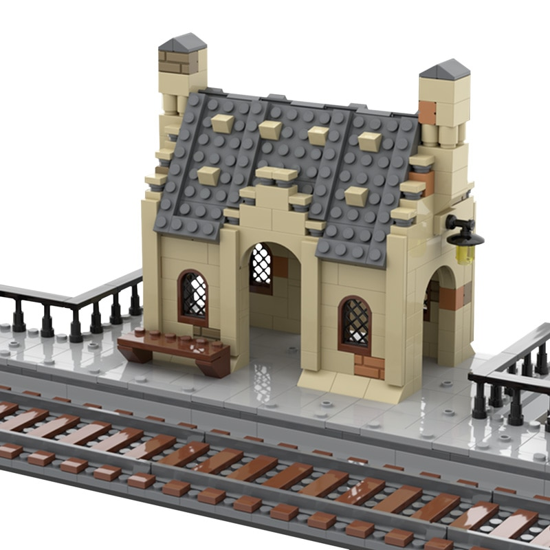 Мпц Европа железнодорожного вокзала Streetview Модель Набор дом конструкторных блоков, Детские кубики сборка
