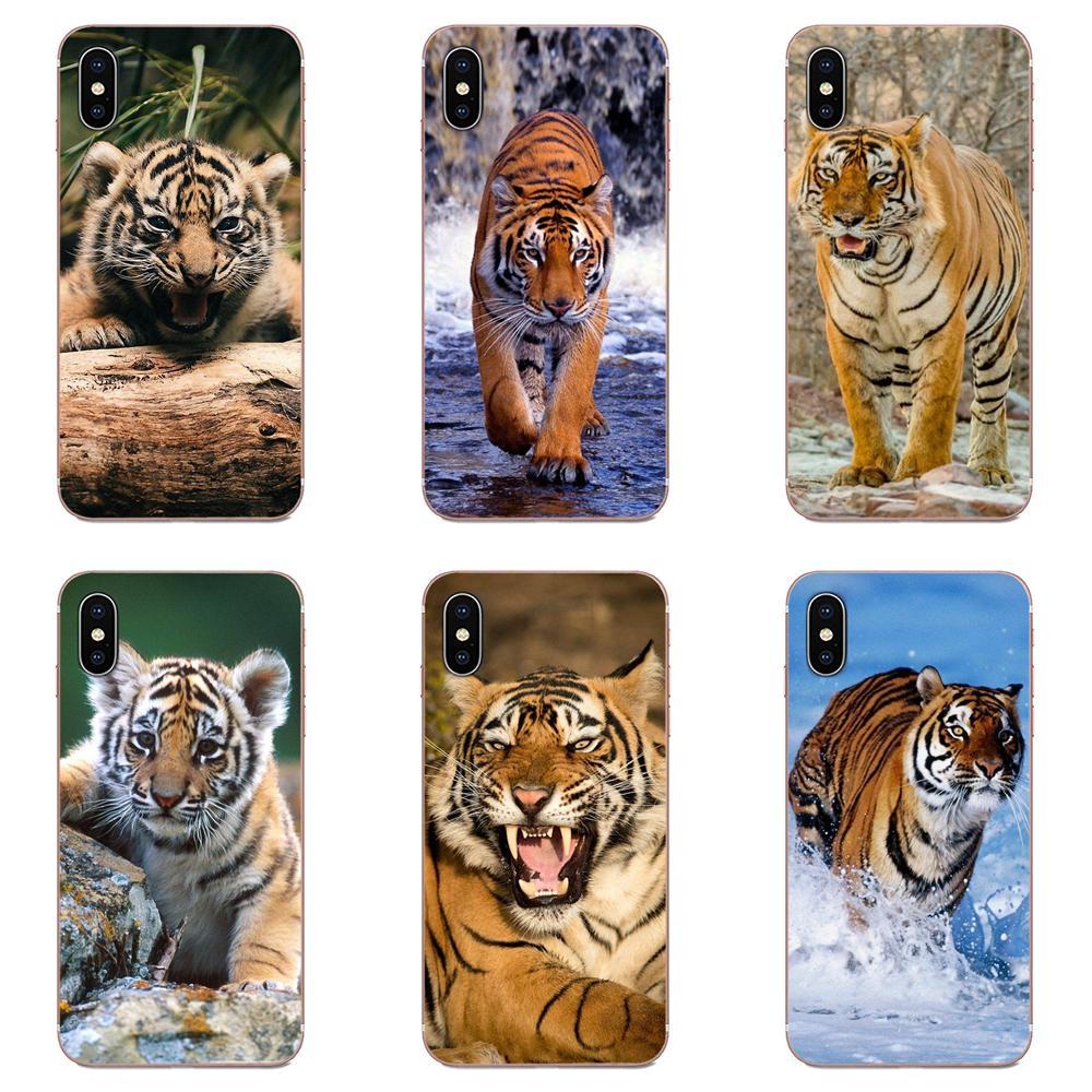 For Samsung Galaxy A10 A20 A20E A3 A40 A5 A50 A7 J1 J3 J4 J5 J6 J7 2016 2017 2018 TPU Cover Cases Animal Tiger Cub Design