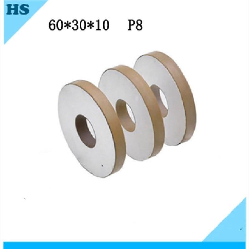 سيراميك كهرضغطية 60X30X10MM P8 رقاقة عنصر حلقة لحام بالموجات فوق الصوتية محول 15K20K هزاز