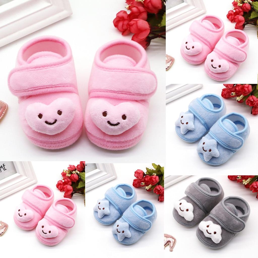 Shoes For Infant Newborn Baby Girls Winter Cute Plush Stars Cloud Boots Soft Sole Warm Shoes Toddler Shoes Детская Обувь#fs