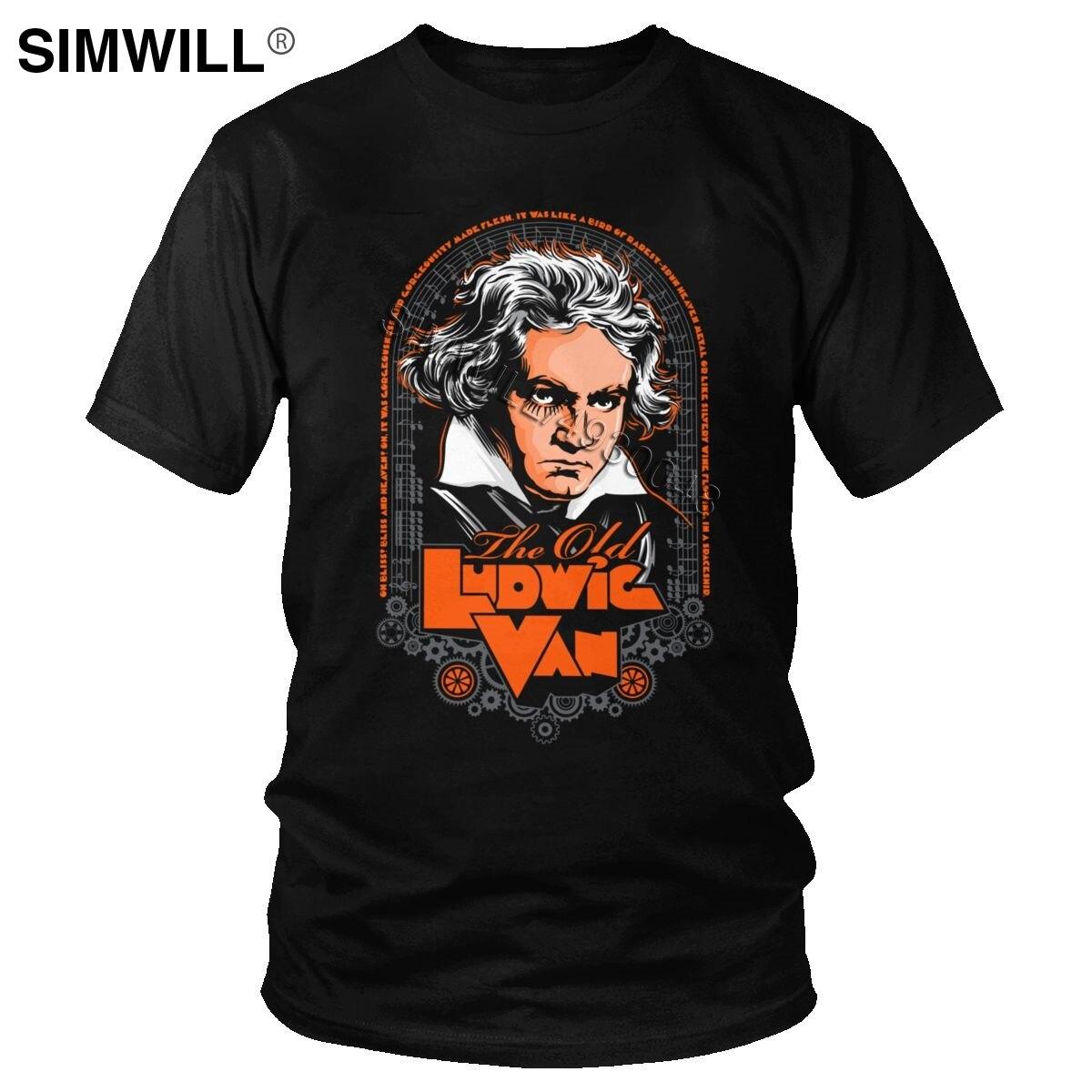 Vintage Ludwig Van Beethoven T camisa de los hombres de música clásica...