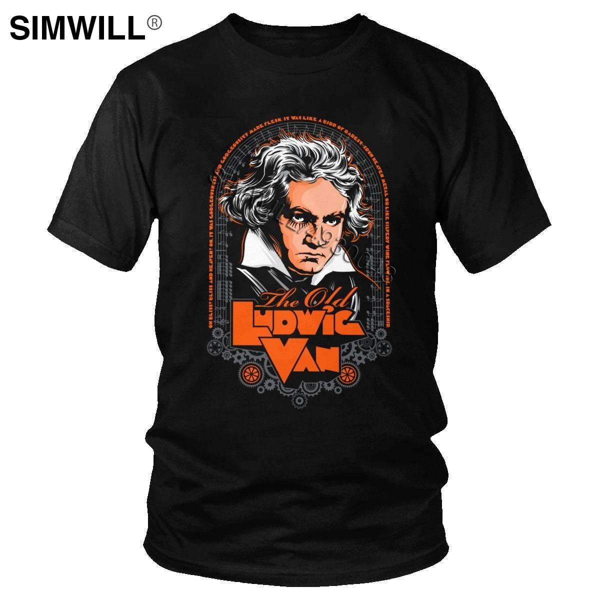 Vintage ludwig van beethoven t camisa masculina música clássica compositor t-shirts manga curta algodão gráfico t fãs roupas presente