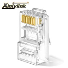 Conector xintylink rj45 rj 45 cat6 ethernet cabo plugue gato 6 lan rede conector macho utp 8p8c unshielded modular 20/50/100 pces