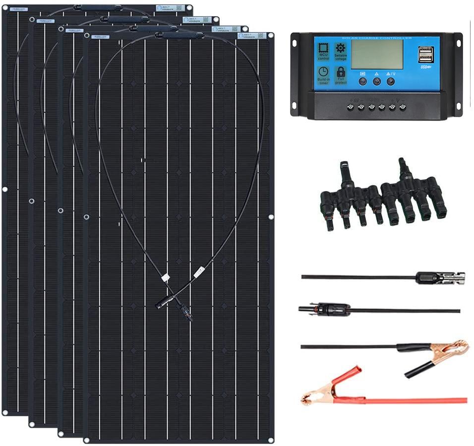 Гибкие НАБОРЫ солнечных панелей 12V 120W 360W 600w 240W 480W кабель контроллера заряда для батареи RV трейлер лодка кабина караван грузовик
