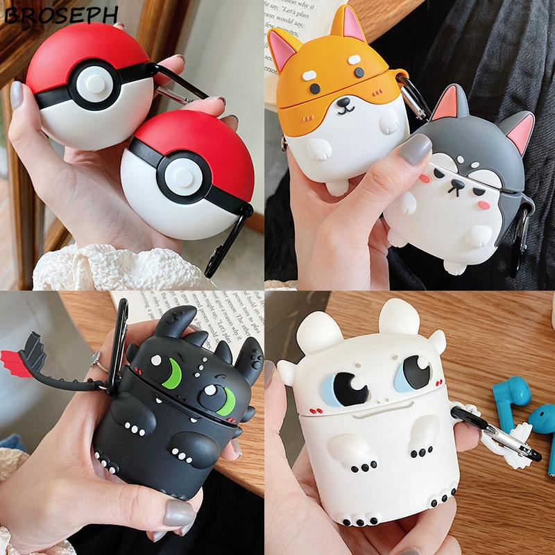 Cute 3D Cartoon Earphone Case For Oneplus Buds Soft Silicone Wireless Bluetooth Portable Headphone C