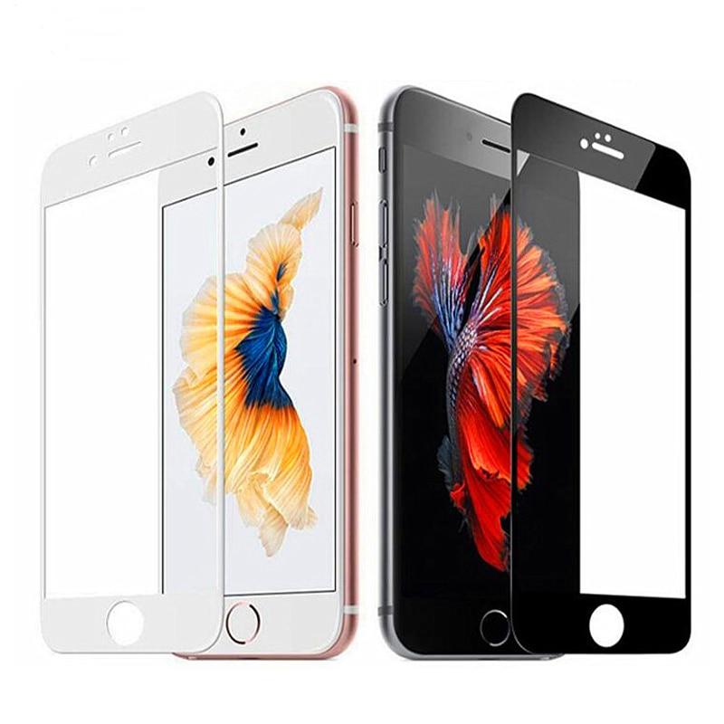 Protecteur d'écran 3D, en verre trempé pour iphone 7, 6, 6s, 8 plus, 6 X, 11 Pro Max