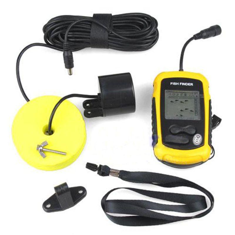 12m portátil buscador de peces profundidad eco Sonar Sensor de alarma transductor Fishfinder