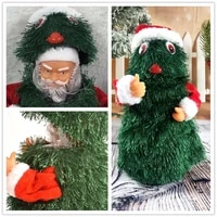 30cm christmas opening christmas tree electric santa claus gift 360 rotating dancing and singing christmas childrens toy