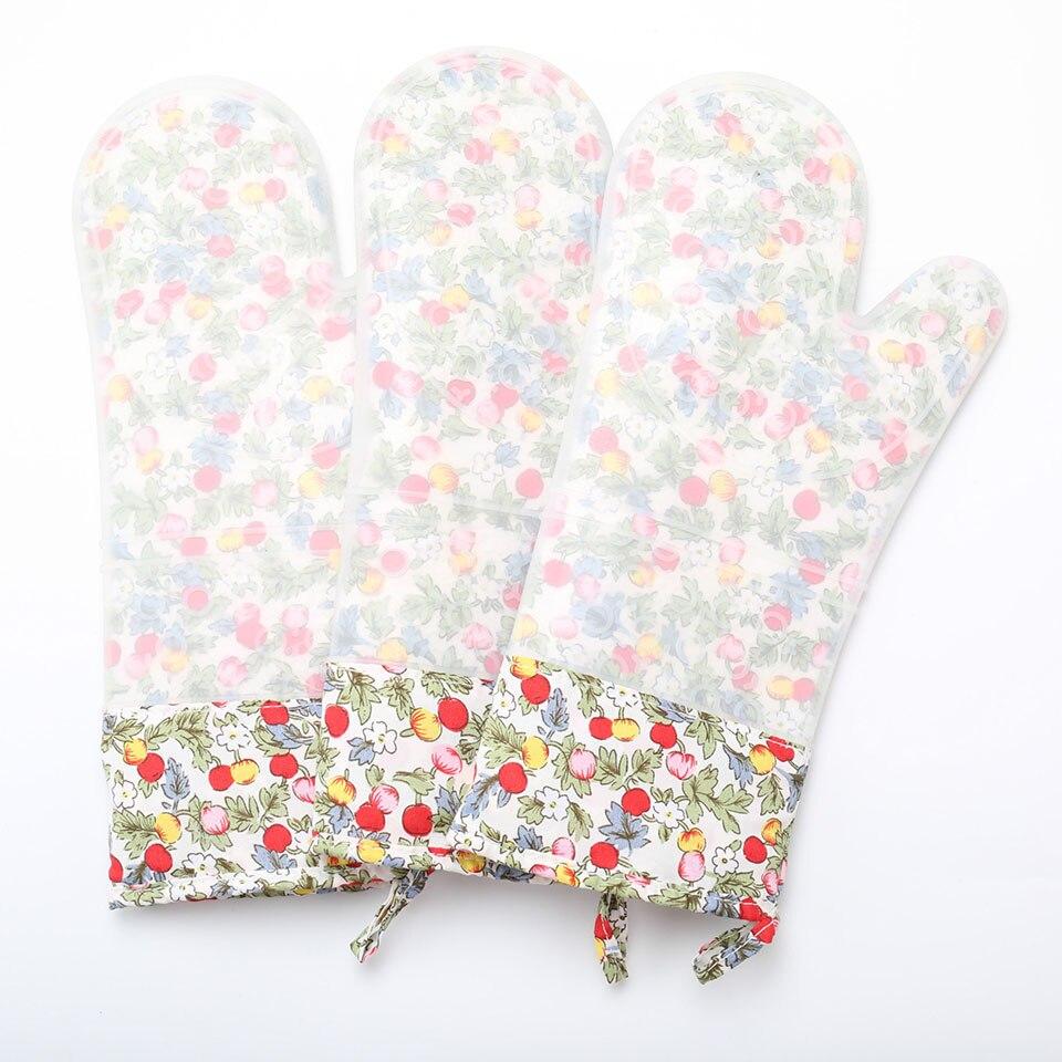 Термостойкие рукавицы для духовки Силиконовые Кухонные перчатки для барбекю перчатки для готовки рукавица для Гриль-барбекю рукавица для ...