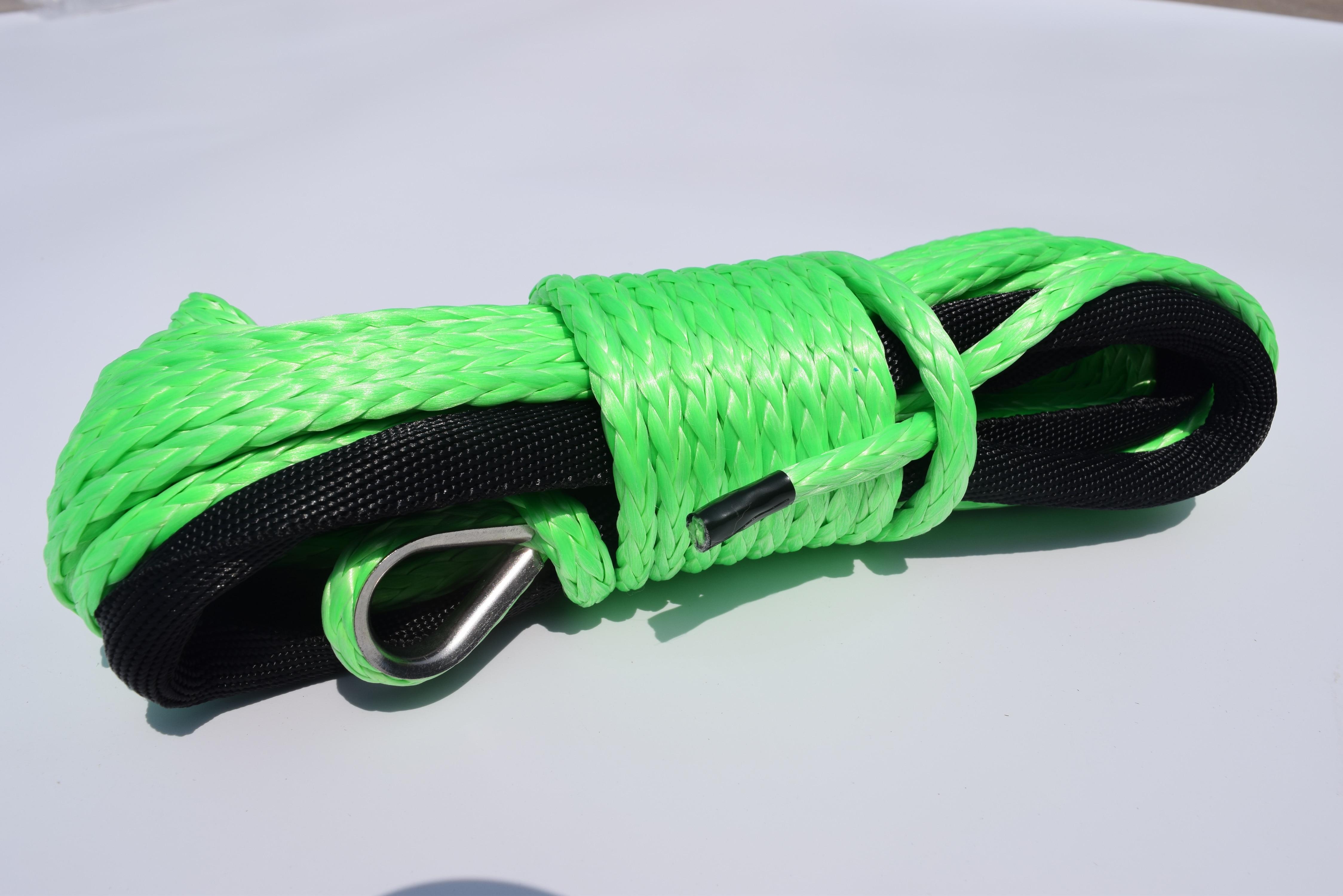Envío Gratis cuerda de cabrestante sintética verde 6mm * 15m, Cable de cabrestante de barco, cuerda sintética 6mm, cuerda fuera de carretera