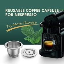 ICafilas חדש משודרג לשימוש חוזר קפה קפסולת Nespresso נירוסטה מסנני קפה אספרסו קפה Crema יצרנית