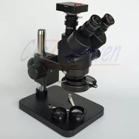 7x 45x 38mp hdmi camera black microscope 3 5x 90x table pillar stand zoom simul focal trinocular stereo microscope