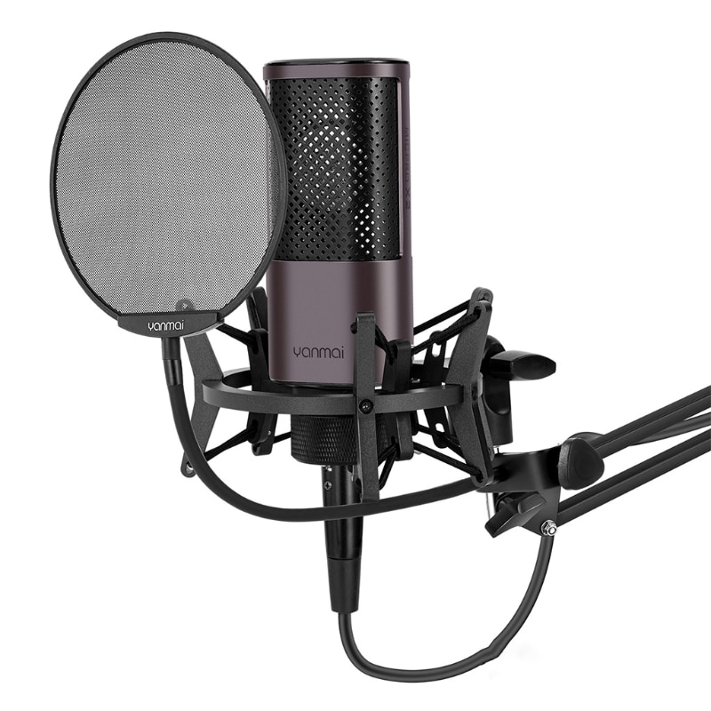 High-sensitivity Condenser Microphone Compatible with Yanmai-X2-B Recording Gaming Singing You Tube Pluggable USB Cable