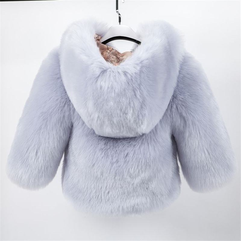 2020 New Fashion Children Girls Winter Jackets Kids Faux Fur Coat Long Sleeve Parka Clothes Baby Thick Solid Warm Outwear W89 enlarge