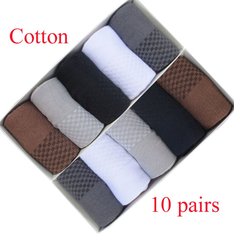 10 pairs Plus size Autumn and winter business affairs cotton men's socks Sweat-absorbent, breathable, deodorant youth socks