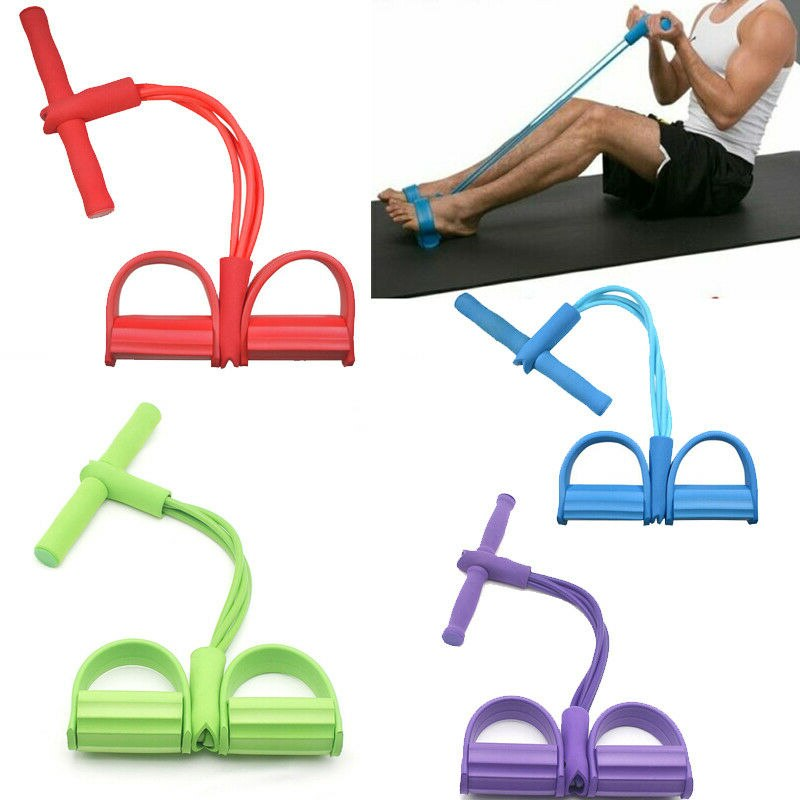 Fitness Gum Elastic Resistance Bands Latex Pedal Exerciser Sit Up Pull Rope Expander Yoga Band Equipment Pilates Workout resistance bands latex elastic pedal exerciser sit up training pull rope waist and abdomen expander bands yoga fitness equipment