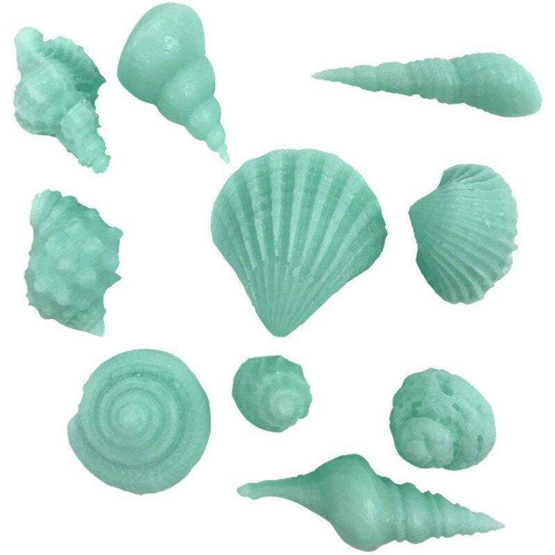Molde de silicona DIY de cola de sirena estrella de mar, concha de mar, molde de jabón, molde de pastel, utensilios para decoración de tortas con Fondant