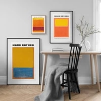 famous mark rothko exhibition poster abstract color block canvas painting simple wall art picture print modern office home decor