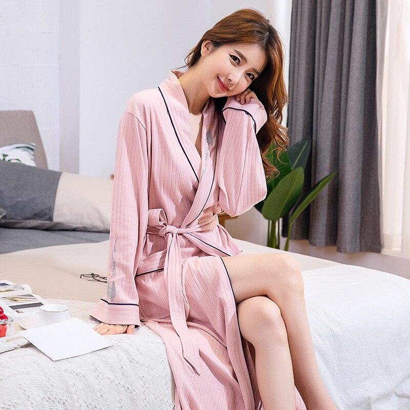 Ночная рубашка Женщины Мужчины Лето Плюс Размер Вафли Пара Халат Ванна 3% 2F4 Рукав Водопоглощающие Быстросохнущие Пижамы Мужчины Повседневные