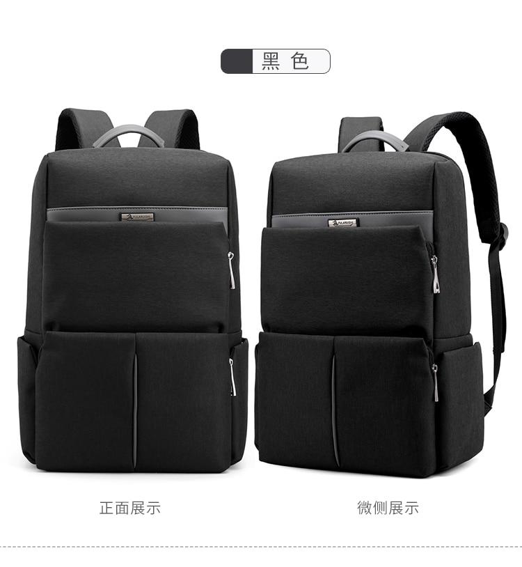 Men Male Canvas Backpack Gray Casual Rucksacks 15inch Laptop Backpacks College Student School Bag Backpack Women Mochila