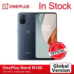Глобальная версия OnePlus Nord N100 4GB 64GB Смартфон Snapdragon 460 90 Гц 6,52 'Экран 13MP тройной 5000 мА/ч, OnePlus официального магазина Carter's