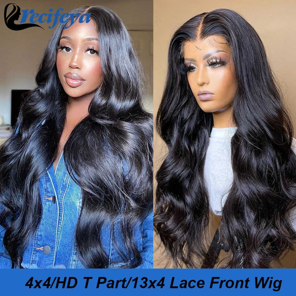 Malaysian Body Wave Human Hair Lace Closure Wig Transparent Lace Loose Body Wave Lace Front Wig 100% Remy Human Hair Lace Wigs