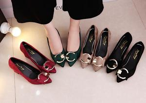 Sexy High Heels Women Pumps Pointe Shoes 2020 Spring Women Square Heel Shoes Woman Shoes High Heel 7.5cm