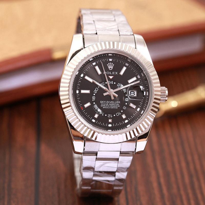 Top Luxury Brand WINNER Black Watch Men women Casual Male Watches Business Sports Military Stainless Steel Watch 1