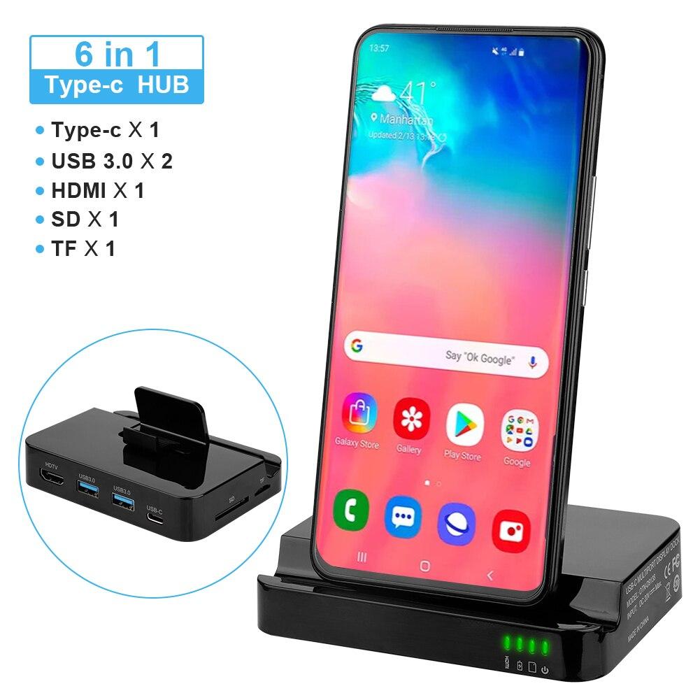 Nueva estación de acoplamiento tipo C HUB para Samsung S10 S9 Dex Pad Station USB C a HDMI Dock adaptador de corriente para Huawei P30 P20 Pro
