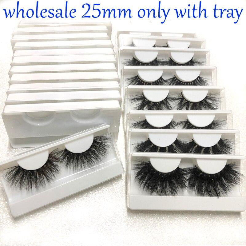 Buzzme Wholeasle 25mm False eye lashes No Box handmade thick False Eyelashes Extension Sexy Makeup Natural Soft Mink Eyelashes