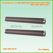 5PCS New RM1-4554-Film Metal Fuser Filxing Film Sleeve for HP P4014 P4015 P4515 4014 4015 M600 M601 M602 Telfon Film with Grease
